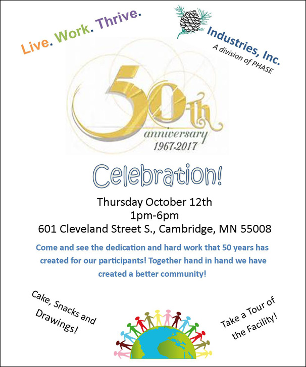 Celebrating 50 YEARS at Industries, Inc.!